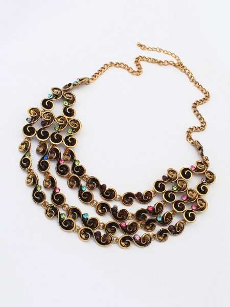 Occident Hyperbolic Personality multi-layeRouge Grosses soldes Collier