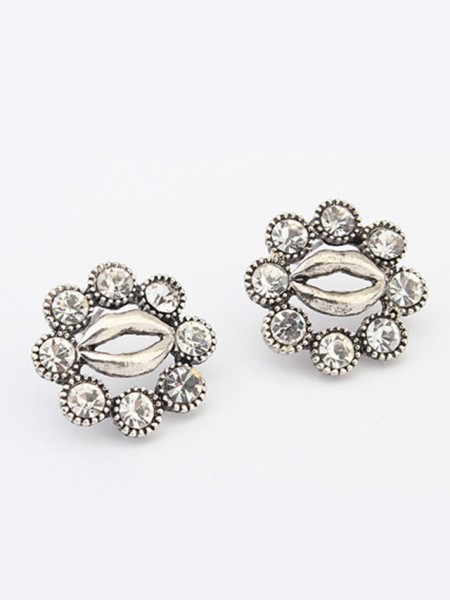 Occident Metallic Personality Hyperbolic Lips Stud Grosses soldes Des boucles d'oreilles